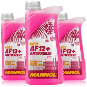 Kuehlerfrostschutz-Rot-G12-3x1L-Mannol-4012-Antifreeze-AF12-Kuehlmittel-AUDI-VW