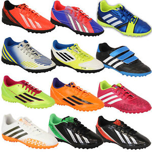 Boys-ADIDAS-Trainers-Kids-Football-Soccer-Astro-Turf-Shoes-Lace-Up-Neon-Youth