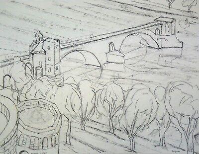 "Sensible Franziskus Dellgruen ""avignon"" 1901-1984 Less Expensive Zeichnung Auf Papier"