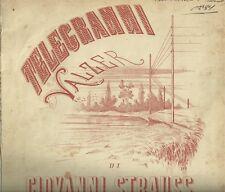 Telegrammi Valzer di Giovanni Strauss Spartito Antico Tito Ricordi 1867