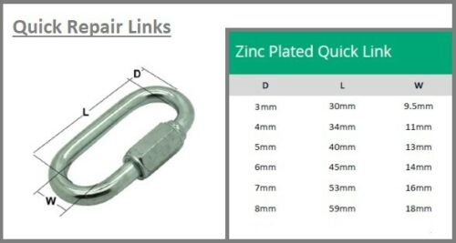 Quick Repair Link Chain Extender Chain Repair Links Screw Lock Fastener Carabina