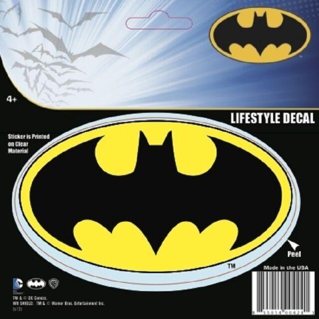 Batman Classic Logo Symbol DC Comics Decal Car Window Laptop Tablet b6c280c699997