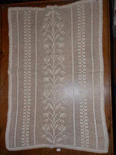 rif. 74 Crochet cotton Curtain B12 Rideau ^ Tenda filet cotone ecrù 68x45