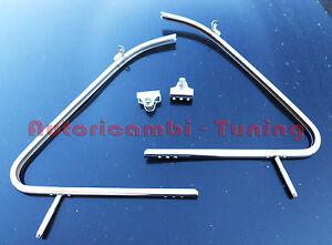 2-Cornici-Cromate-Telaio-Deflettore-Dx-Sx-FIAT-500-D-F-L-R-Alta-Qualita-V028