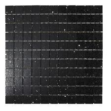 Sample Black Quartz Mirror fleck Mosaic Tiles ( Starlight )