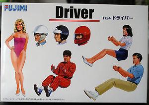 Garage-amp-Tools-Drivers-Fahrer-Fahrerin-Rennfahrer-1-24-Fujimi-11004-114910