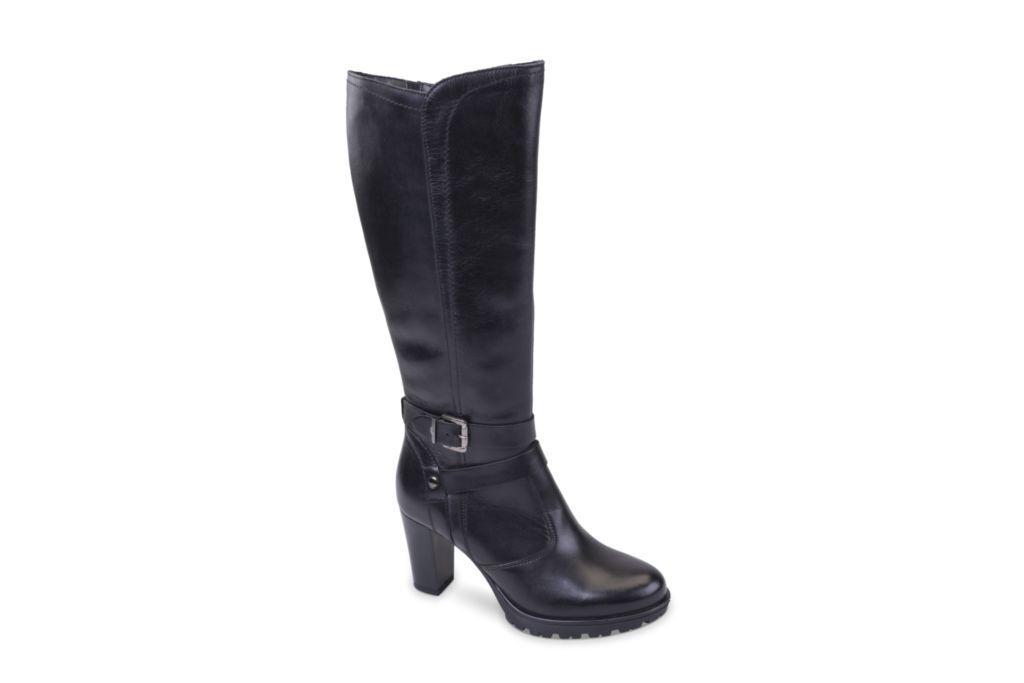 Valleverde stivali  donna stivali woman 46501 nero pelle A I18
