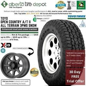 FREE 30 Day Test Drive Toyo OPEN COUNTRY AT2 All Terrain Toyo AT/2 All Terrain XD Wheels 215/85R16 215/85/16 215 85 16 Canada Preview