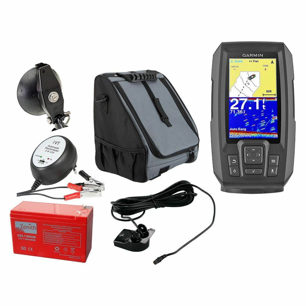 Garmin STRIKER Plus 4 (50/77/200 Echolot Fishfinder (50/77/200 4 kHz) Portabel Set-1 cfe034