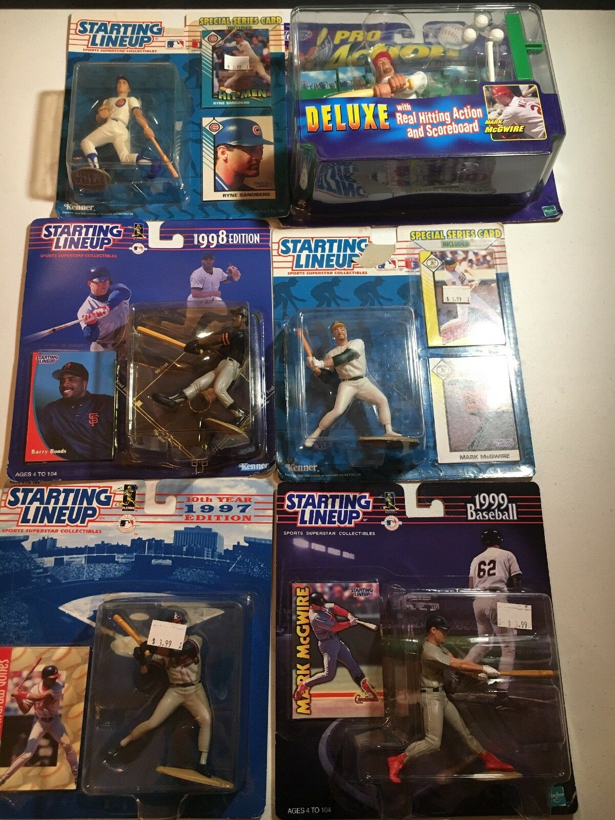 Starting Lineup MLB Lot Of 6 - MOC - McGwire Bonds And More