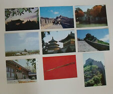 x9 China POSTCARD lot/ Set NEW Chinese temple of heaven sword great wall of