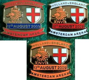 Holland-v-England-2009-Friendly-Amsterdam-Arena-12-August-2009-Pin-Badge