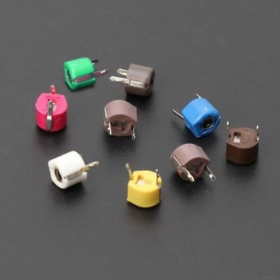 4 PCS CERAMIC TRIMMER CAPACITORS 4-10pF 250V 10mm SILVER PLATED MILITARY