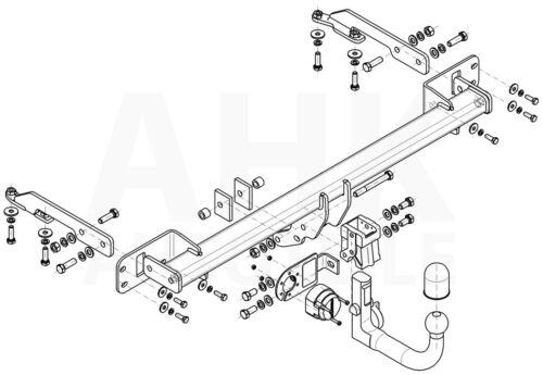 Honda HR-V II 5-Tür Anhängerkupplung abnehmbar+ES 7p ABE