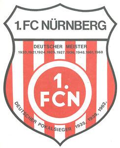 1 Aufnäher NUR DER CLUB Fussball Bundesliga Logo FC Nürnberg