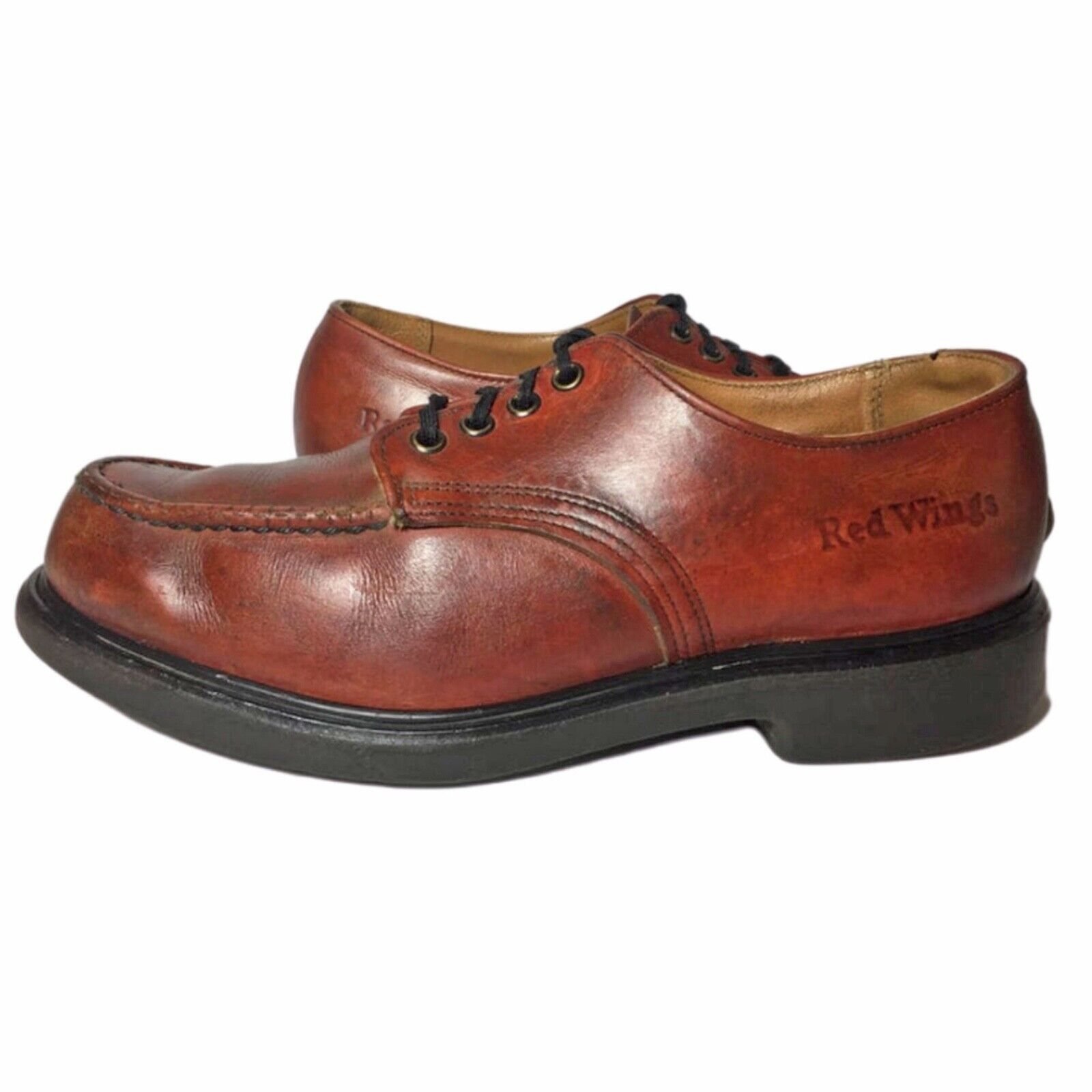 RED WING® Vintage 90's Postman Brown Leather Oxfo… - image 2