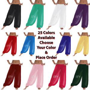 Mousseline-Harem-Yoga-Pantalons-Belly-Dance-Pant-Danse-Orientale-Danse-Halloween