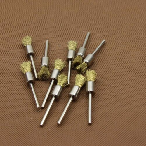 ZLDMGJ123 10Pcs Mini Wire Brush Brushes Brass Cup Wheel for Dremel or Drill New