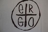 Ergo Apparel Name Brand Logo Classic Style Soft Blue T Shirt 2xl