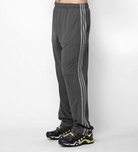 86af1866e Adidas Men's Training Climacore 3 Stripe Pants, Black/Charcoal Grey ...
