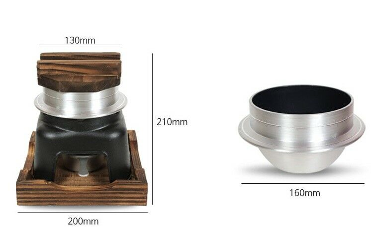 For One Person Person Person Mini pot + pot full set / For RICE Single Person / No Electronic ee5436