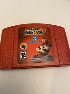Nintendo-N64-Game-Super-Mario-64-Sapphire-Homebrew-Romhack