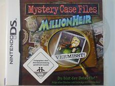 !!! NINTENDO DS SPIEL Mystery Case MillionHeir, gebraucht aber GUT !!!