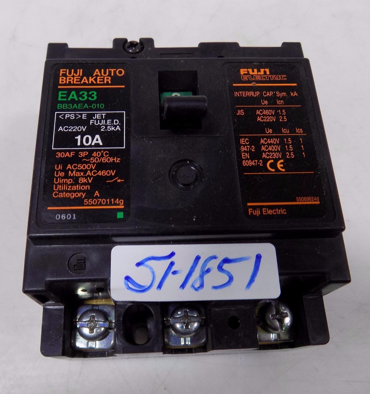 FUJI ELECTRIC 10A 3-POLE CIRCUIT BREAKER BB3AEA-010