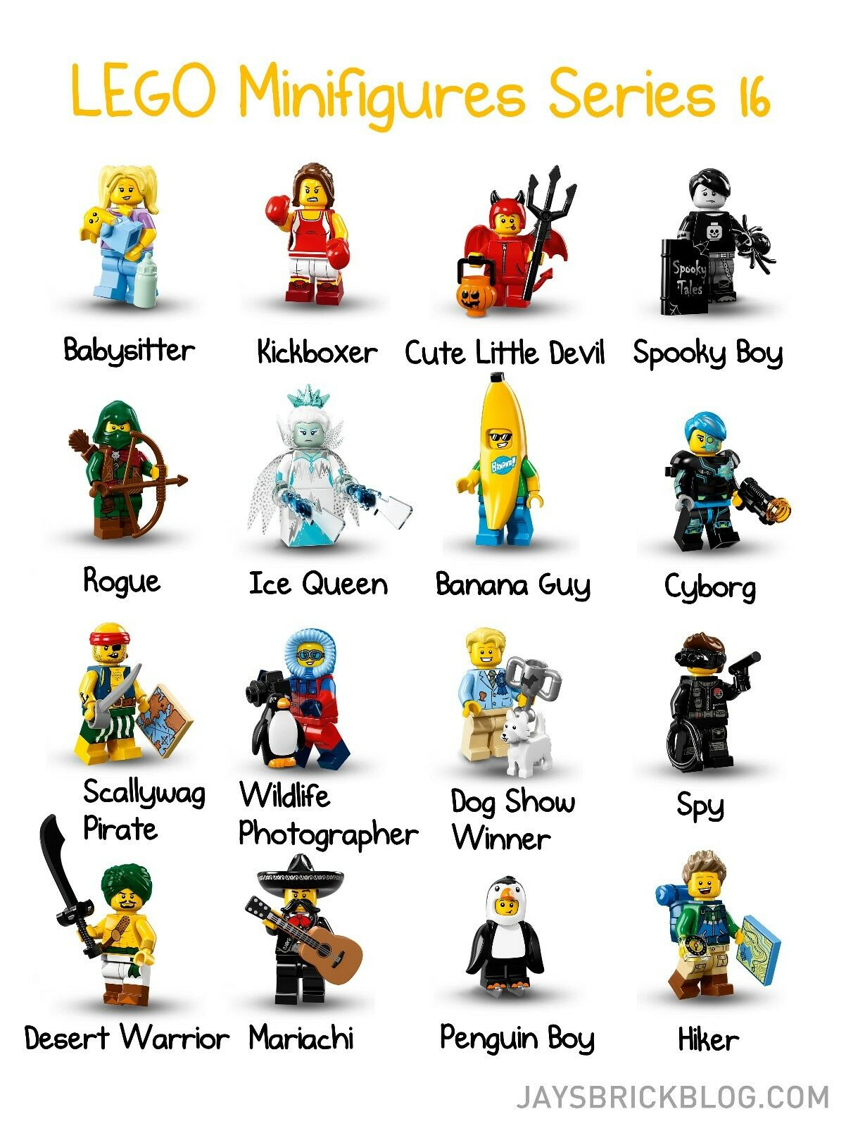 Lego Minifigure Serie 16, complete set with 16 fig, OVP