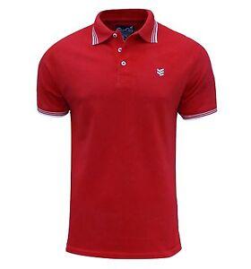 Gio-Goi-Men-039-s-Paco-Polo-T-Shirt-Red