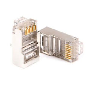 CAT6-RJ45-Pass-Through-Network-Cable-Modular-Plug-Connector-Open-End-100-Pcs