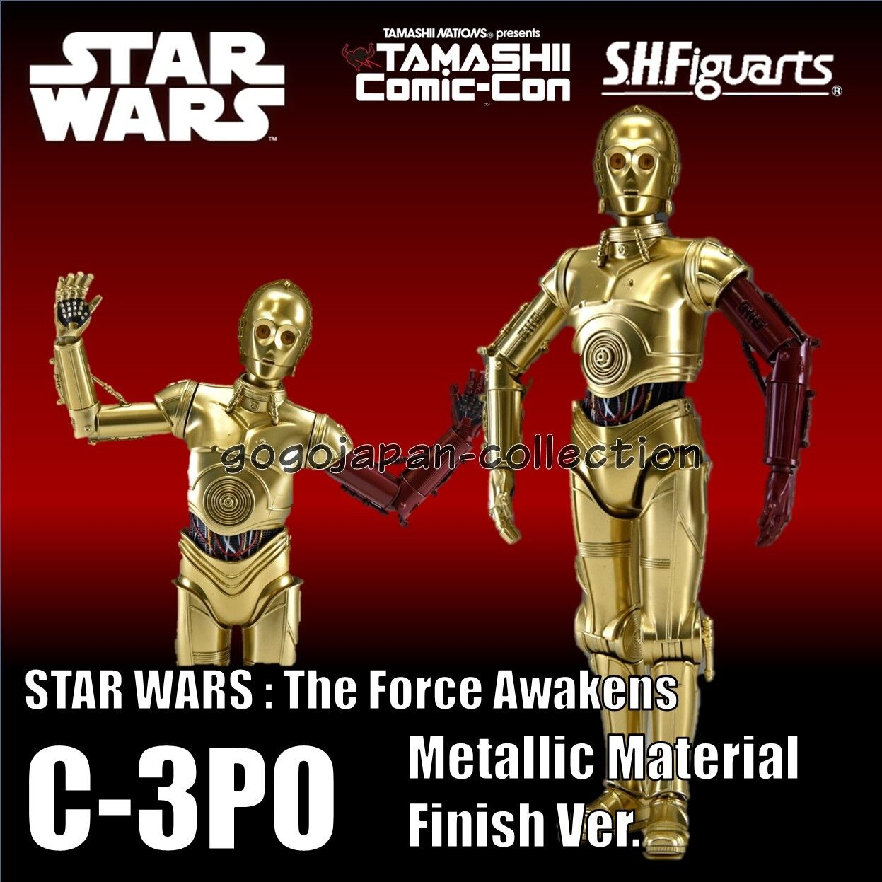 S.H.Figuarts STAR WARS C-3PO Metallic Material Finish ver. Figure LIMITED ITEM