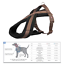 Trixie-Dog-Premium-Touring-Harness-Soft-Thick-Fleece-Lined-Padding-Strong thumbnail 9