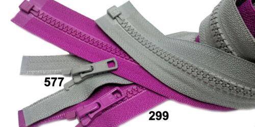 "2pcs 16/"" Vislon Zipper YKK #5 Medium Weight Molded Plastic Separating Made USA"