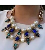 Blue Green Pearl Zara Necklace Bloggers Favorite