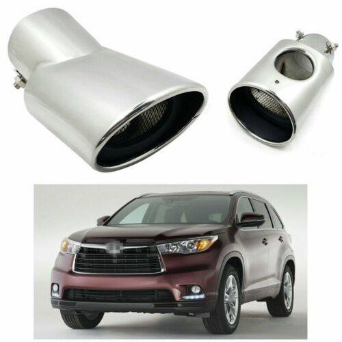 Stainless Rear Exhaust Muffler Tip End Pipe Trim For Toyota Highlander 2015-2019
