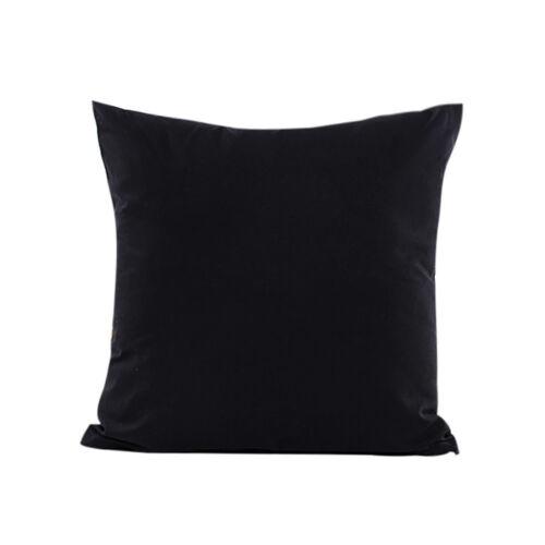 Modern Soft Home Plain Throw Cushion Cover Rome Decor Sofa Waist Pillow Case US