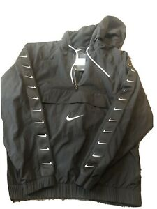 Nike-Air-Big-Swoosh-Logo-Hooded-Pouch-Pullover-Jacket-Black-Size-Xl-Retail-130