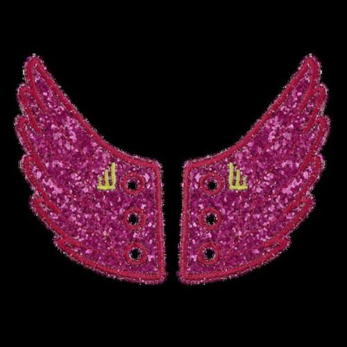 SHWINGS Fuscia Pink Sparkle wings for shoes official designer Shwings NEW 10706