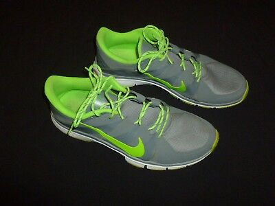sports shoes 45245 36c5d NIKE FREE 5.0 MENS GRAY/GREEN RUNNING SHOES SIZE 12.5 #616 | eBay