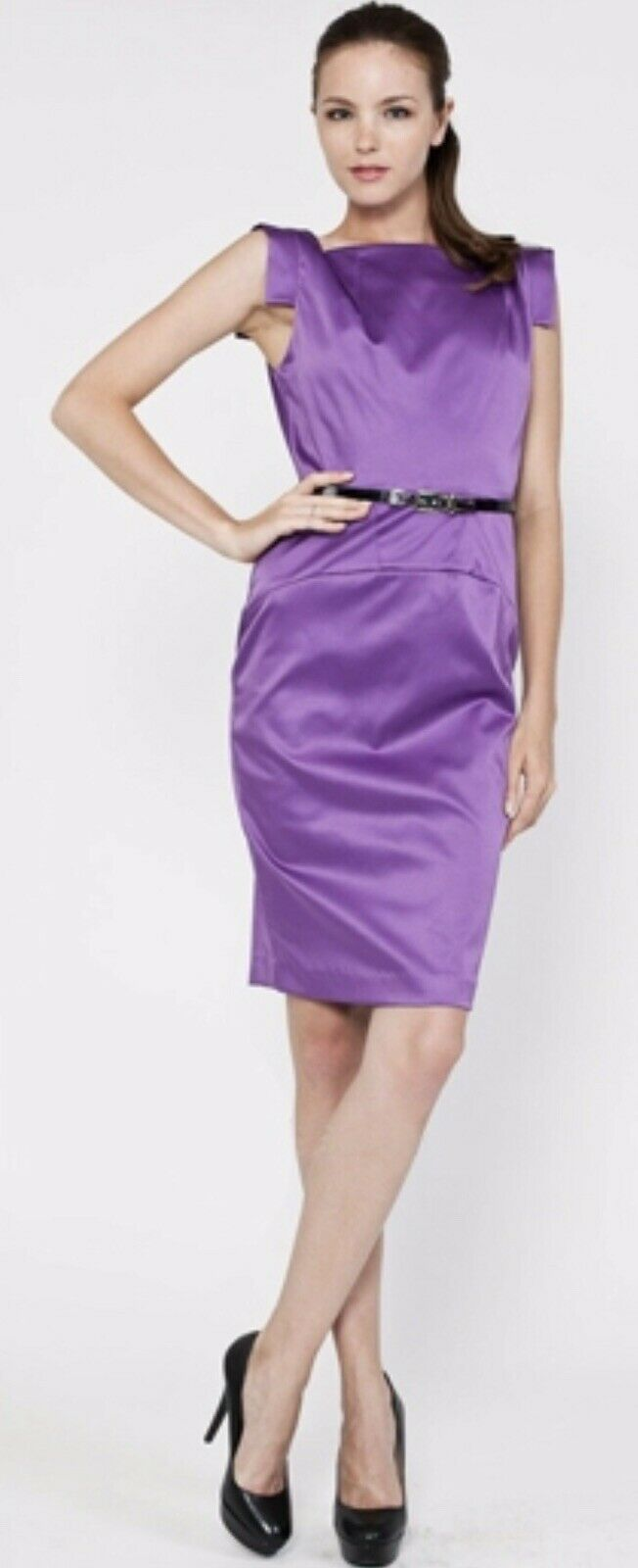 NWT Single Victoria TailGoldt Pencil Dress In Lilac Größe 4