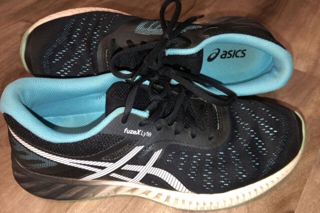 ASICS FuzeX Lyte Gel Running Athletic Shoes Sneakers Black/Blue Women's Size 9.5