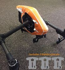 DJI Inspire 1 Orange Carbon Fiber Body Skin Graphic Wrap Decal  RC Drone
