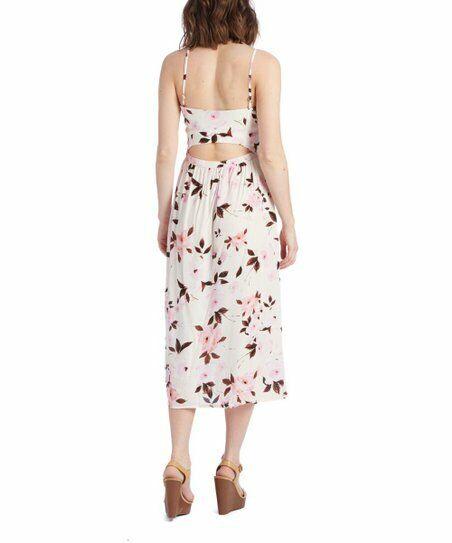 Flynn Flynn Flynn Skye Faith Midi Dress, Scattered pinks Print, Sz S, Reformation Style 4735ce