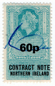 I-B-Elizabeth-II-Revenue-Contract-Note-Northern-Ireland-60p