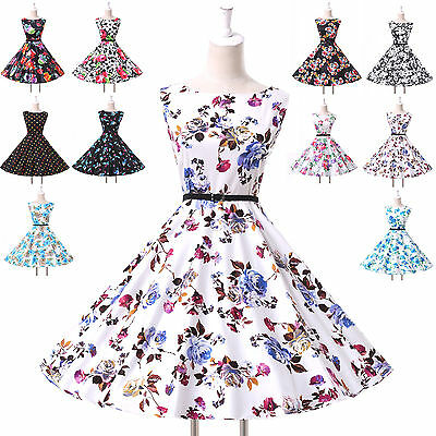 FREE SHIP Vintage Style Swing Party 1950s Housewife Pinup Dress Belt