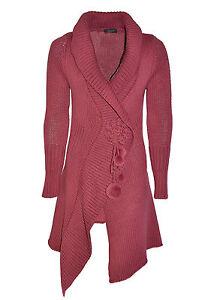 TAVIANI-cardigan-donna-lungo-lavorazione-a-maglia-taglio-asimmetrico-in-SALDO