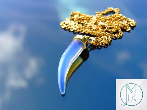 Collar De Pimienta Opalite Artificial Colgante de piedras preciosas con cadena de Curación Chakra Reiki