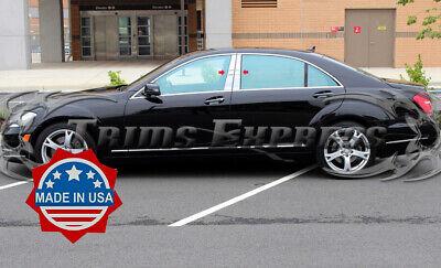 TYGER For 08-2012 Chevrolet Malibu 4PC Stainless Steel Chrome Pillar Post Trim