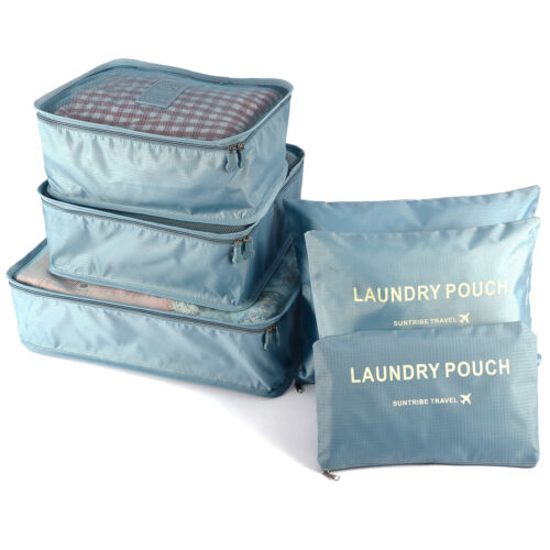 Storage Bags Essentials 6Pcs Clothes Traveling Packing Luggage Organizer Pouch